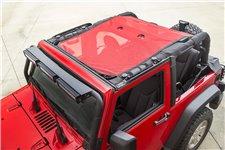 Dach siatkowy typu Eclipse, czerwony, 2 drzwiowy : 07-17 Jeep Wrangler JK