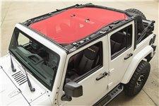 Dach siatkowy typu Eclipse, czerwony, 4 drzwiowy : 07-17 Jeep Wrangler Unlimited JKU