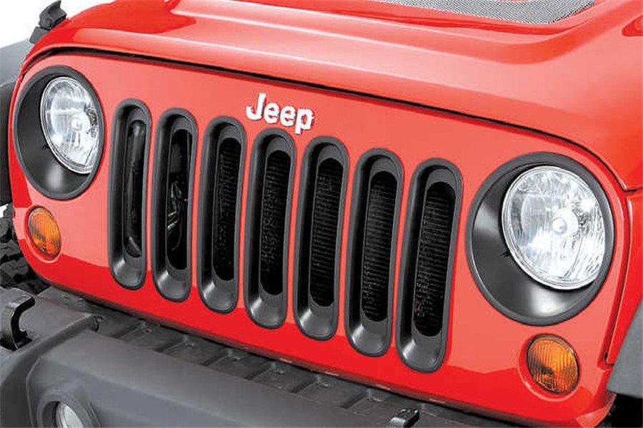 Ramki świateł przednich, Czarne, 07-16 Jeep Wrangler JK