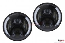 Lampy przednie LED, model TWIN : EU, RHT, DRL, kierunkowskaz, 7 cali, para