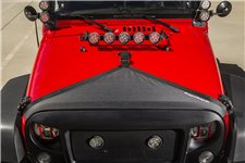 Materiałowa osłona maski, trójkątna, czarna : 07-17 Jeep Wrangler JK/JKU