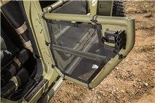 Siatki rurowych drzwi połówkowych, tylnia para drzwi, czarne : 07-17 Jeep Wrangler JKU