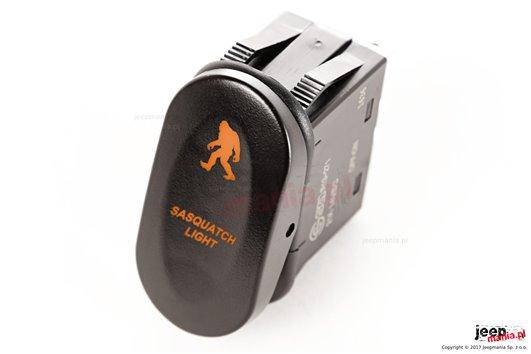 Przełącznik Rocker, Wielka Stopa, 2 pozycyjny, podświetlenie pomarańczowe