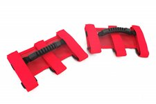 Uchwyty serii Ultimate, Czerwone, 55-15 Jeep CJ and Wrangler