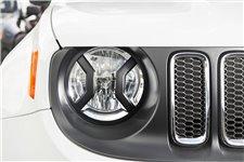 Osłony świateł przednich serii Elite, czarne : 15-17 Jeep Renegade BU