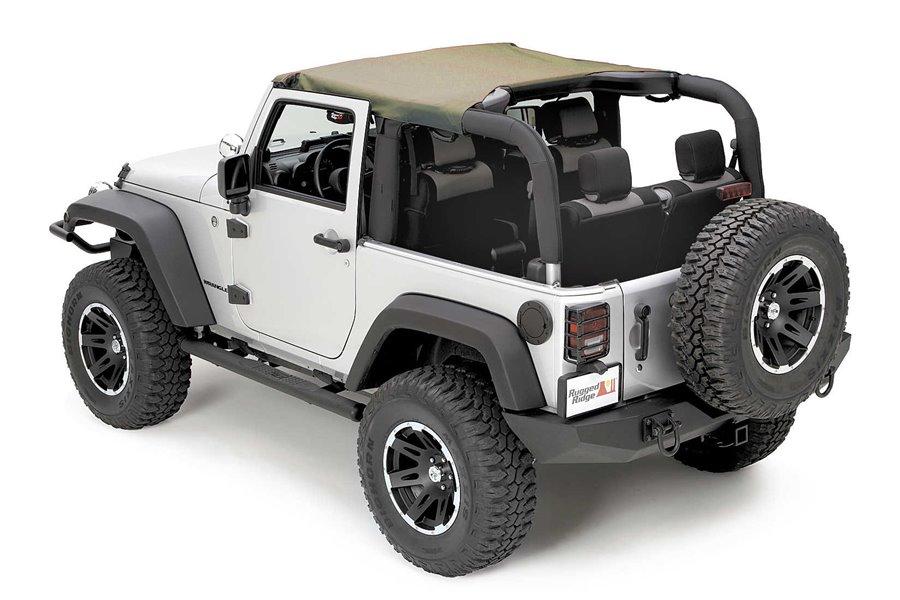 Pocket Brief Top, Khaki Diamond, 07-09 Jeep Wrangler