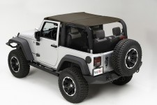Pocket Brief Top, Diamond Khaki : 10-18 Jeep Wrangler JK