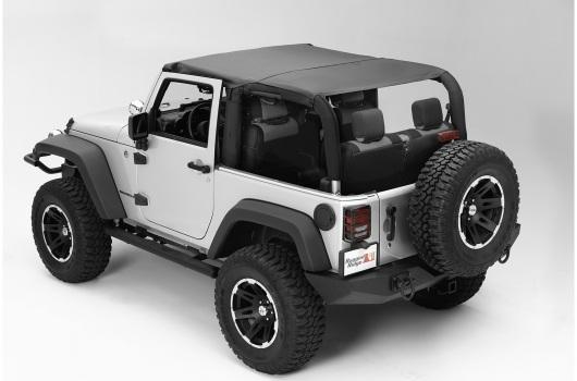 Pocket Island Topper, Black Diamond :10-17 Jeep Wrangler JK