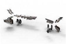 Wzmocnienia przedniego mostu Dana 44, ZESTAW 3 : 07-17 Jeep® Wrangler and Wrangler Unlimited Rubicon