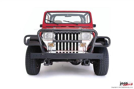 Orurowanie, osłona przednia, czarna : 87-06 Jeep Wrangler YJ/TJ