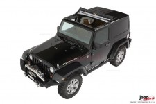 Dach miękki Sunrider, Black Diamond, zastępuje panel SunTop : 07-17 Jeep® Wrangler & Wrangler Unlimited JK