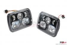 Lampy przednie LED, model 8900 Evolution : wersja EU, 7x5 cali, RHT, czarne, para