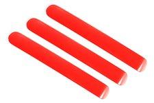 Ozdobne wkładki do klamek, seria Elite, aluminiowe, czerwone 3 sztuki : 07-18 Jeep Wrangler JK/JKU