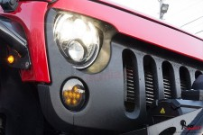 Kierunkowskazy LED na grill, przyciemniane, 07-17 Jeep Wrangler JK