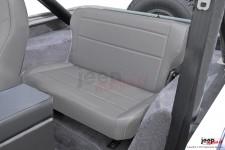Fold and Tumble Rear Seat, Gray : 76-95 Jeep CJ/Wrangler YJ