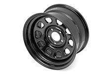 Black D-Window Wheel, 17 inch X 9 inches, 5 x 5-inch bolt pattern