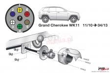 Wiązka elektryczna do haka holowniczego, dedykowana, 7-PIN : Jeep 11-13 Grand Cherokee WK2