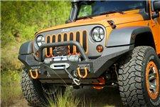 Zderzak przedni XHD z miejscem na wyciągarkę, poprzeczą i zakończeniami o wysokim prześwicie : 07-17 Jeep Wrangler JK