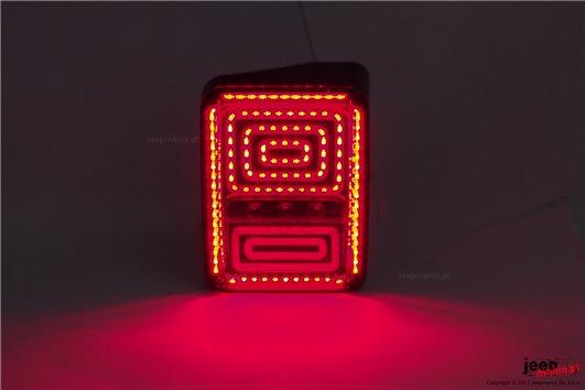 Lampy tylne LED, model SPIRAL : wersja europejska, Jeep Wrangler JK 2007+