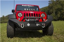 Spartan Front Bumper, High Clearance Ends, With Overrider : 07-18 JK