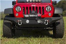 Zderzak przedni SPARTAN, standardowe zakończenia, bez poprzeczki: 07-18 Jeep Wrangler JK