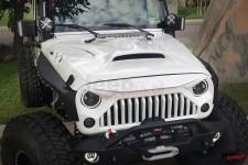 Maska wyczynowa, wentylowana, model FURY, włókno szklane : 07-17 Jeep Wrangler JK