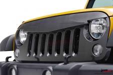 Sportowy Grill, model ANGRY BIRD, imitacja włókna węglowego : 07-17 Jeep Wrangler JK