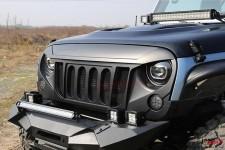 Sportowy Grill, model SIX SLOTS, z siatką : 07-17 Jeep Wrangler JK