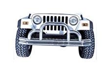 Zderzak przedni, model Deffender, stal nierdzewna : 55-06 Jeep CJ/Wrangler YJ/TJ