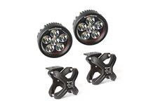 Zestaw oświetlenia, 2 mocowania X-Clamp, czarne teksturowane, 2 lampy LED, okrągłe : 07-17 Jeep Wrangler JK