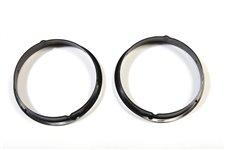 Wkładki ozdobne lamp przednich, czarne, para : 97-06 Jeep Wrangler TJ