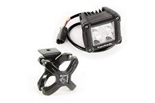 Oświetlenie z mocowaniem, kwadratowa lampa LED Dual CUBE, uchwyt X-Clamp, 1 zestawy : do rur 2.25″-3″, czarny