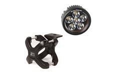 """Oświetlenie z mocowaniem, okrągła lampa LED, uchwyt X-Clamp, 1 zestaw : do rur 1.25""""-2"""", czarny, 1 x 18W"""