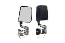 Zestaw bocznych lusterek z kierunkowskazami LED, Chromowane : 87-02 Jeep Wrangler