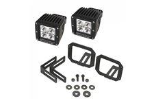 Zestaw 2 kwadratowych lamp LED 3″ z mocowaniem w miejsce świateł przeciwmgielnych : 07-17 Jeep Wrangler JK