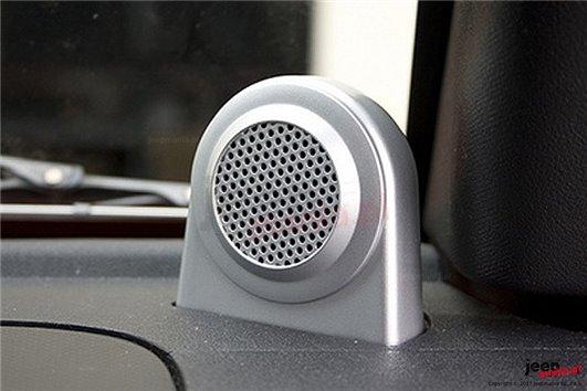 Tweeter Speaker Enclosures, Brushed Silver : 07-10 Jeep Wrangler JK