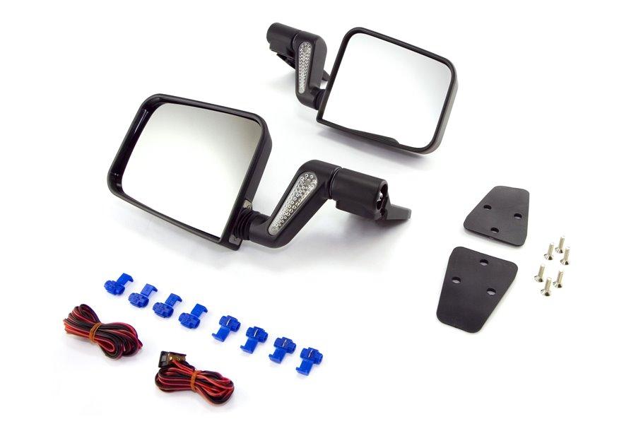Heated Door Mirror Kit, Black : 87-02 Jeep Wrangler YJ/TJ