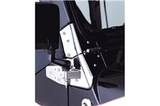 Mirror Relocation Brackets, Stainless Steel : 97-02 Jeep Wrangler TJ