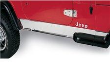 Rocker Panel Cover, Stainless Steel : 97-06 Jeep Wrangler TJ