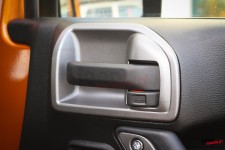 Front or Rear Door Latch Trim, Silver : 11-13 Jeep Wrangler JK