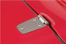 Hood Hinge Kit, Satin Stainless Steel : 98-06 Jeep Wrangler TJ
