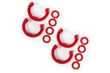 D-Ring Isolator Kit, Red 2-Pair, 3/4-Inch