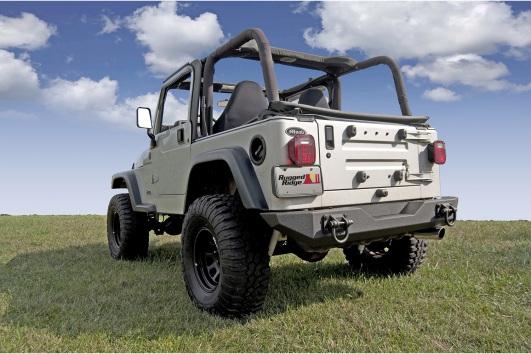 XHD Rear Bumper : 76-06 Jeep CJ/Wrangler YJ/TJ