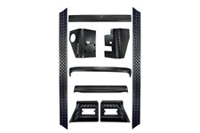 9 Piece Body Armor Kit : 97-06 Jeep Wrangler TJ