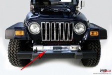 Front Frame Cover, Stainless Steel, 97-06 Jeep Wrangler TJ