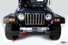 Osłona ramy przedniej, stal nierdzewna : 97-06 Jeep Wrangler TJ