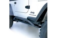 Osłony rurowe progów RRC, Czarne : 87-06 Jeep Wrangler YJ/TJ