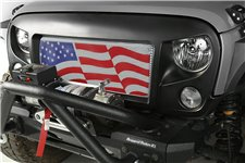 Grill Spartan z siadką Amerykańska flaga : 07-18 Jeep Wrangler JK/JKU